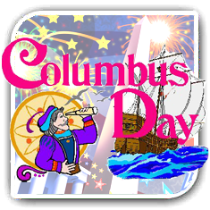 Columbus day in USA and Canada
